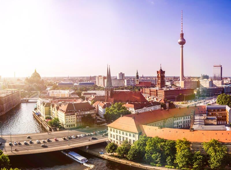взгляд berlin панорамный стоковое фото