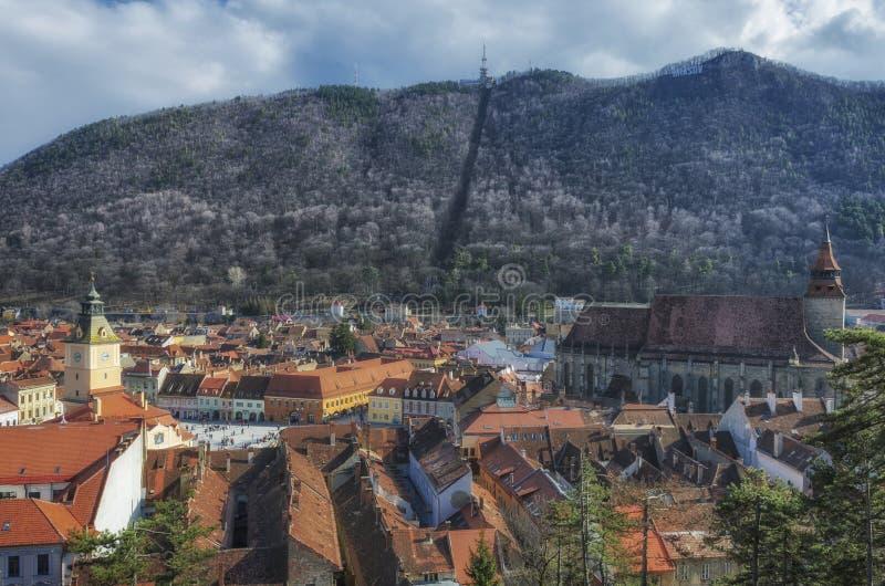 Взгляд Brasov панорамный стоковые изображения