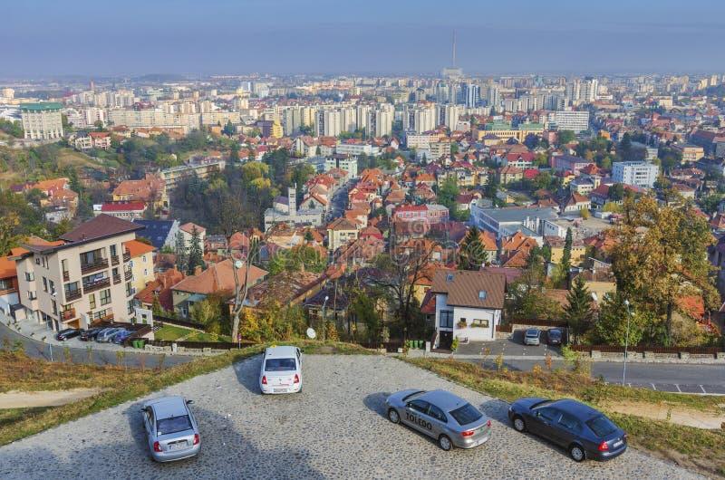 Взгляд Brasov панорамный стоковое изображение rf