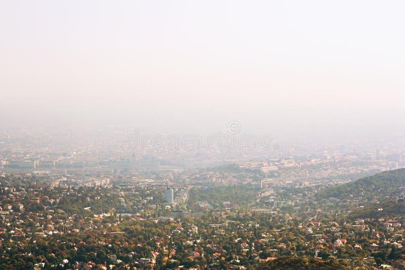 взгляд budapest Венгрии панорамный стоковая фотография