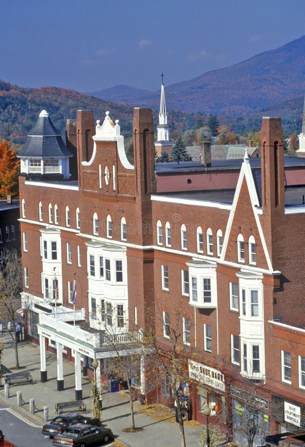 Взгляд Claremont, NH от колокольни стоковые изображения