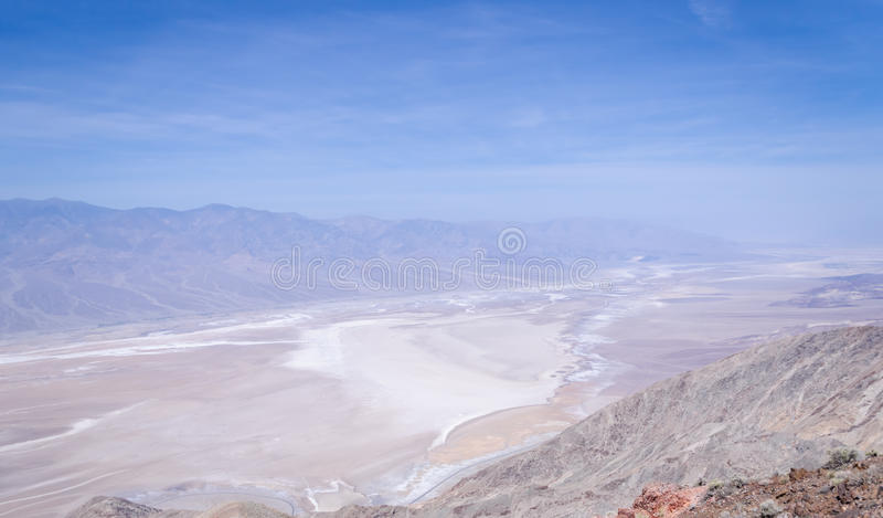 Взгляд Dante в Death Valley стоковое фото rf