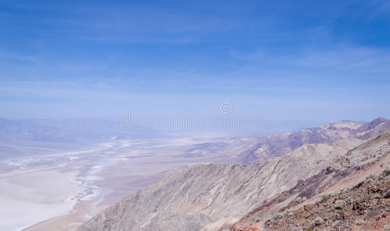 Взгляд Dante в Death Valley стоковая фотография