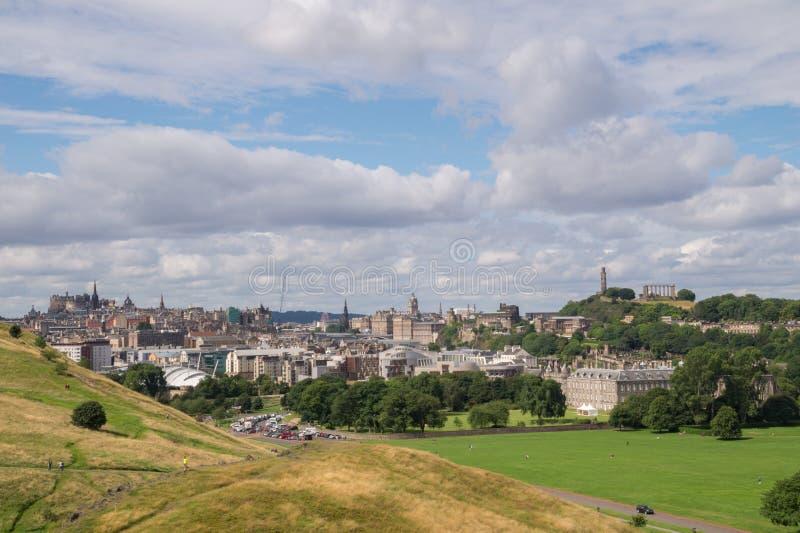 взгляд edinburgh Шотландии стоковое фото rf