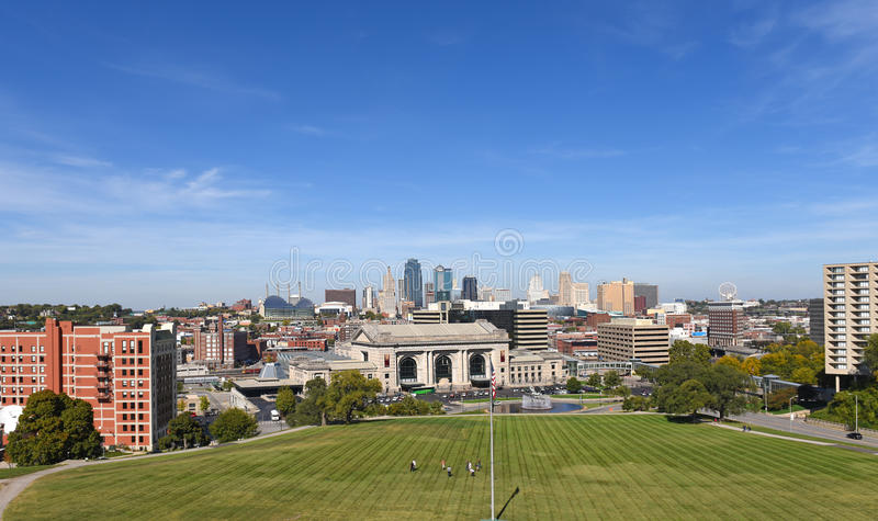 Взгляд Kansas City Миссури стоковые фотографии rf
