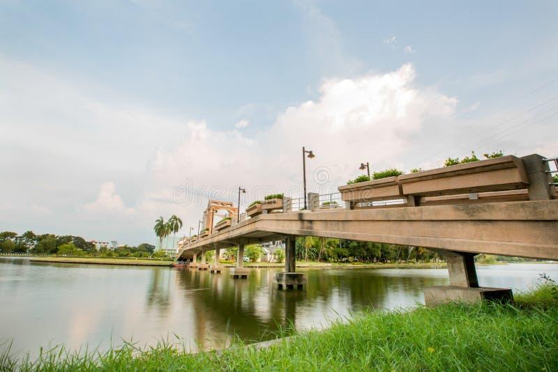 Взгляд Nakornsawan Таиланда, Nhongsombun стоковое фото rf
