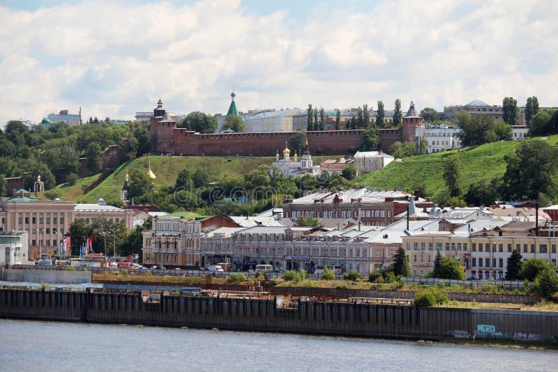 Взгляд Nizhny Novgorod, России стоковая фотография rf