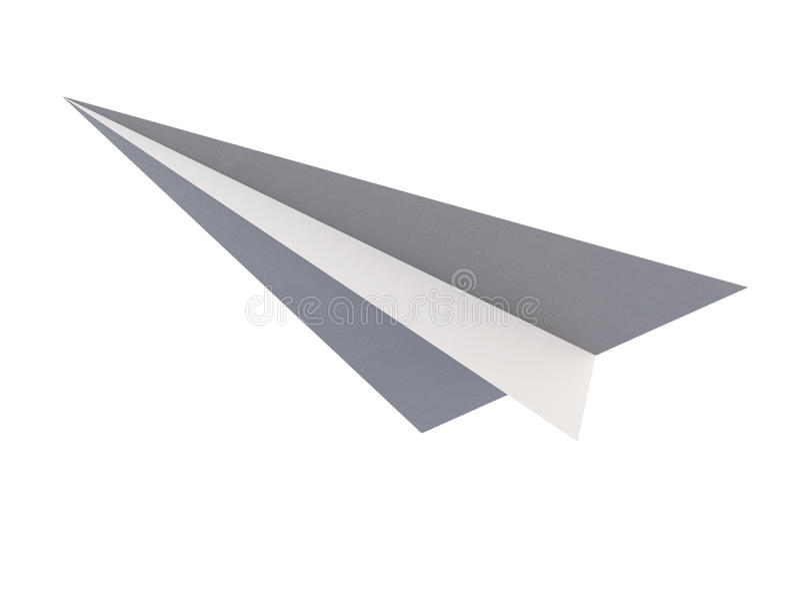 Взгляд origami бумажного самолета нижний изолированный на белой предпосылке бесплатная иллюстрация