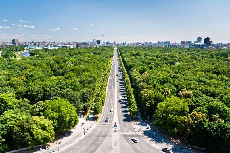 Взгляд ponarama Tiergarten и Берлина citry разбивочный стоковые изображения