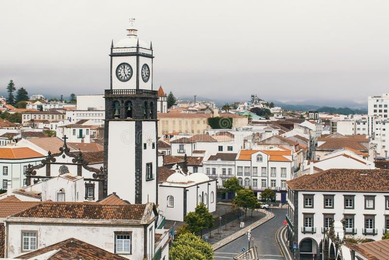 Взгляд Ponta Delgada - острова San Miguel, Азорских островов, Португалии Путешествия стоковое фото