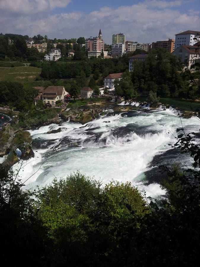 Взгляд Rhine Falls, Швейцария стоковая фотография