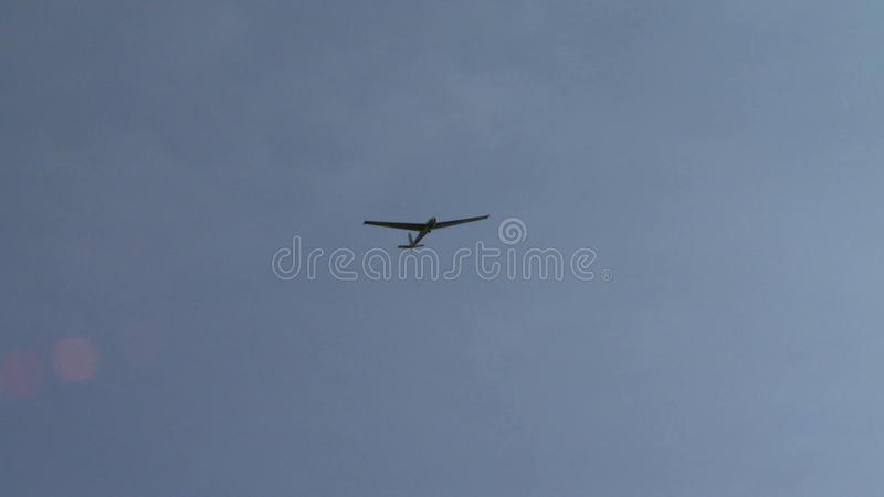 Взгляд sailplane витая на камере сток-видео