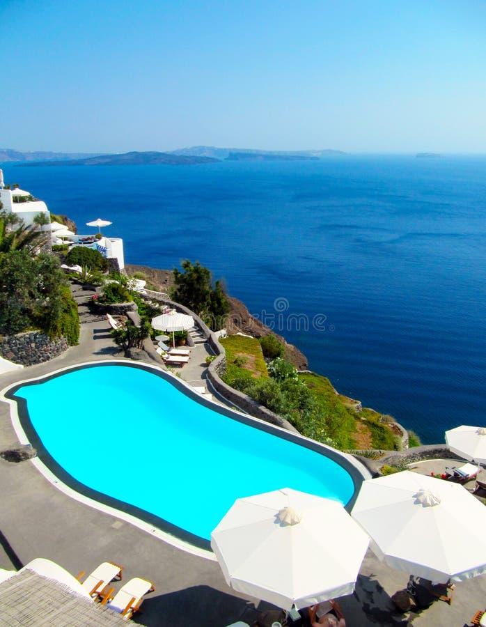 Взгляд Santorini стоковая фотография rf