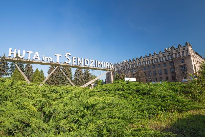 Взгляд Sendzimir, стальные изделия s Nowa Huta в Польше, может 2017 стоковая фотография