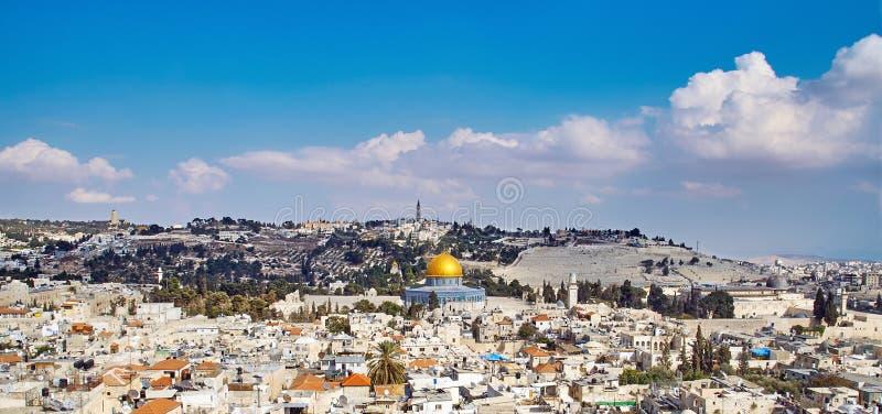 Взгляд sity Иерусалима старый стоковые изображения