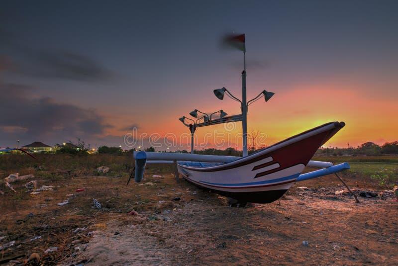 Взгляд Snenic пляжа в Бали стоковое изображение