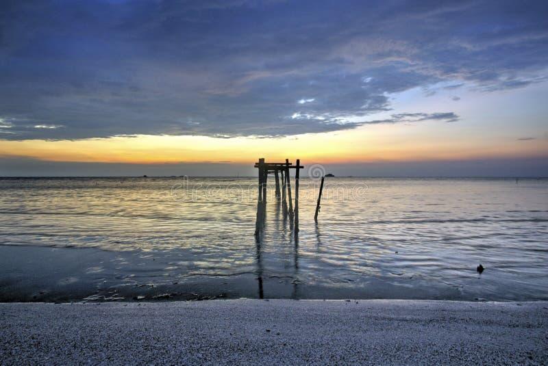 Взгляд Snenic пляжа в Бали стоковые изображения rf