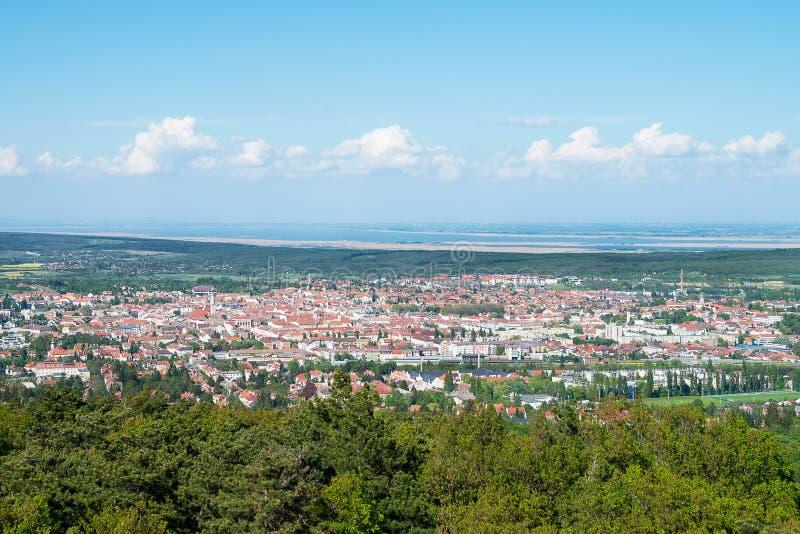 Взгляд Sopron и озера Ferto, Венгрии стоковое фото rf