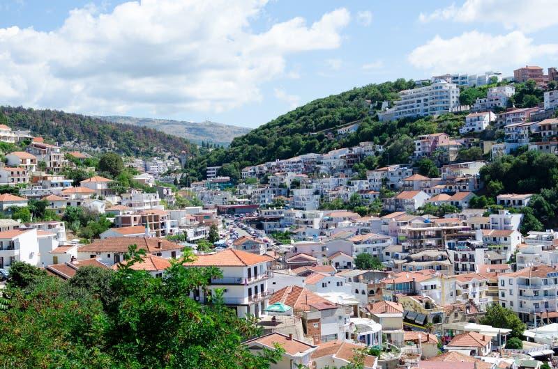 Взгляд Ulcinj, Черногории стоковая фотография rf