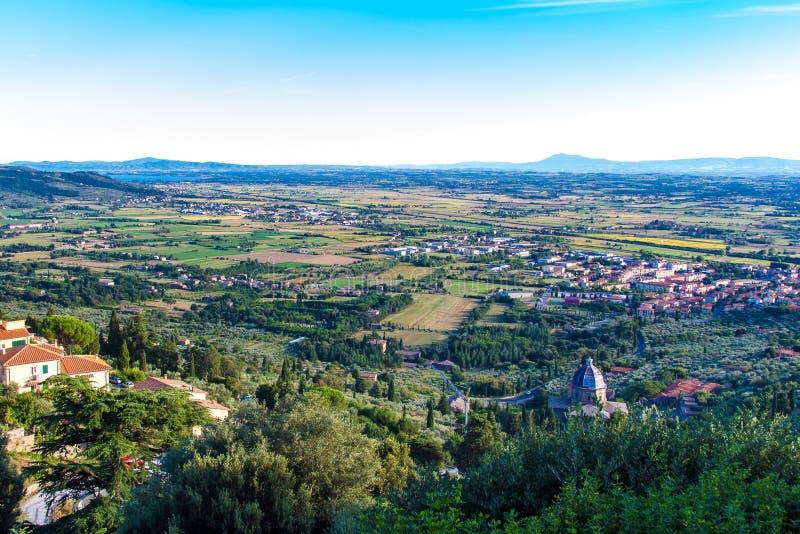 Взгляд Val di Chiana в Тоскане, Италии стоковые фото