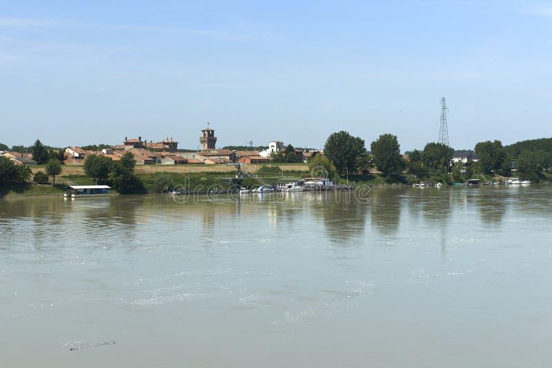 взгляд valentino turin реки piedmont po парка стоковое фото rf