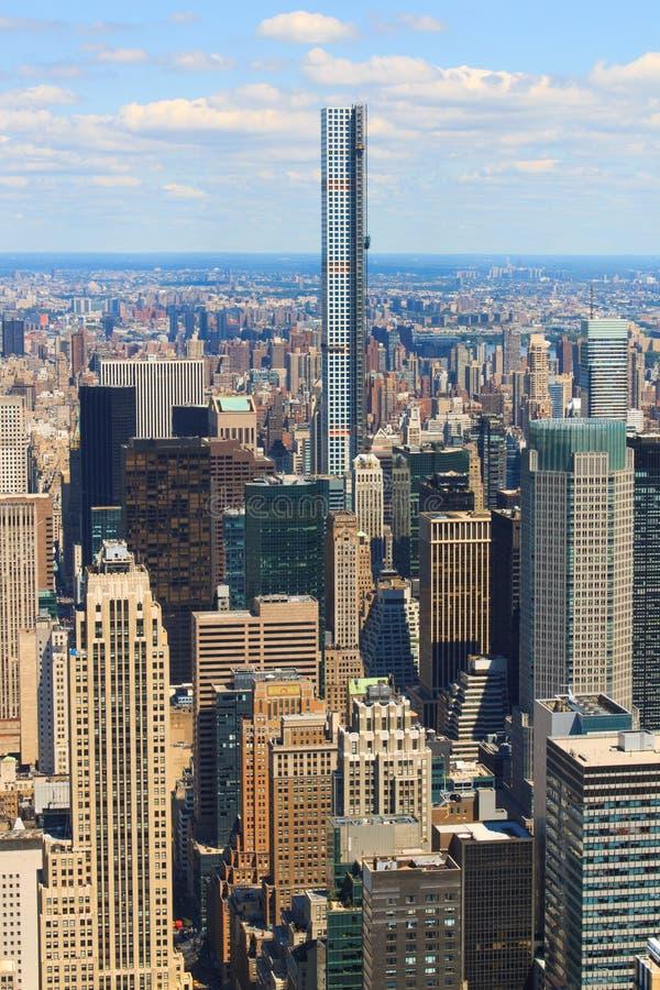 взгляд york горизонта manhattan воздушного города новый стоковая фотография
