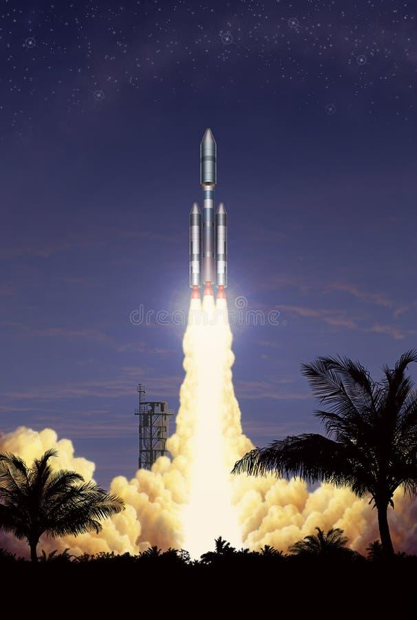 взлет ракеты иллюстрация вектора