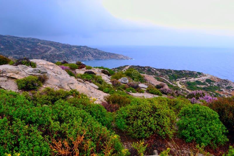 Взморье и Эгейское море стоковое фото rf