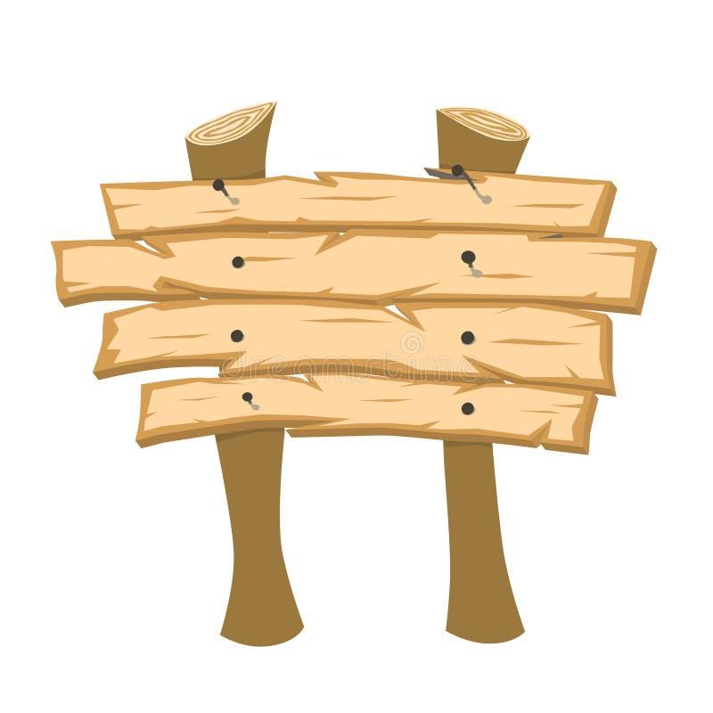 взойдите на борт знака деревянного иллюстрация штока