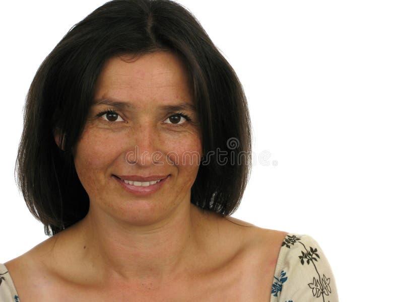 взрослая красивейшая счастливая женщина стоковая фотография