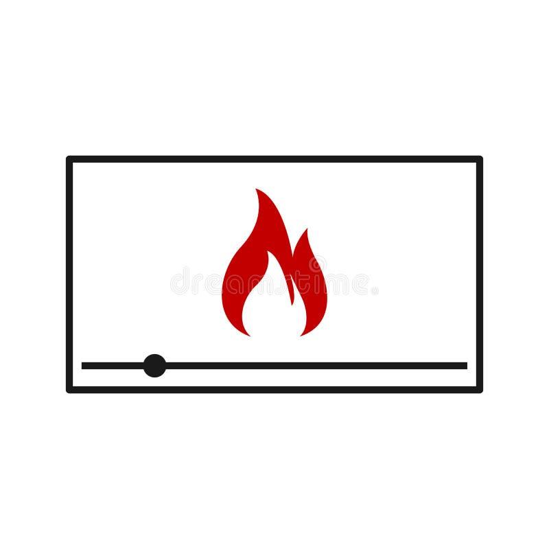 взрослое видео линия пламени вебсайты и передвижной minimalistic плоский дизайн иллюстрация штока