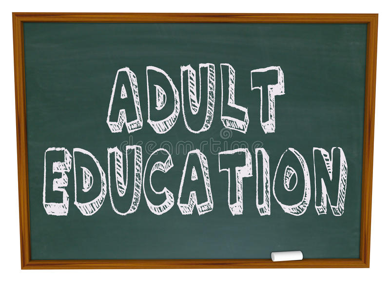 взрослое образование chalkboard иллюстрация штока