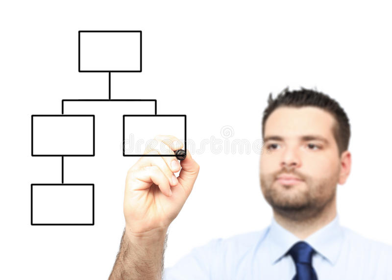 взрослый чертеж диаграммы бизнесмена стоковые изображения