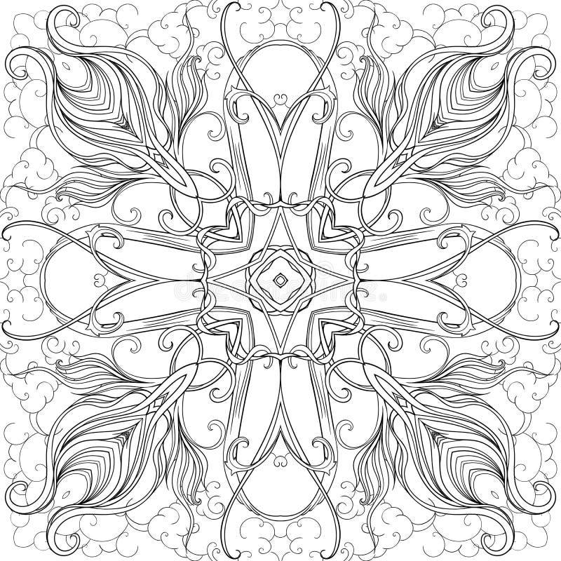 Взрослое крася page-mandala7 иллюстрация вектора