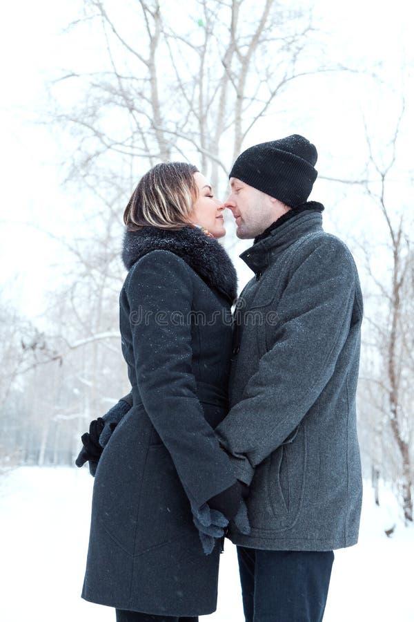Взрослые пары отдыхая в парке стоковые фотографии rf