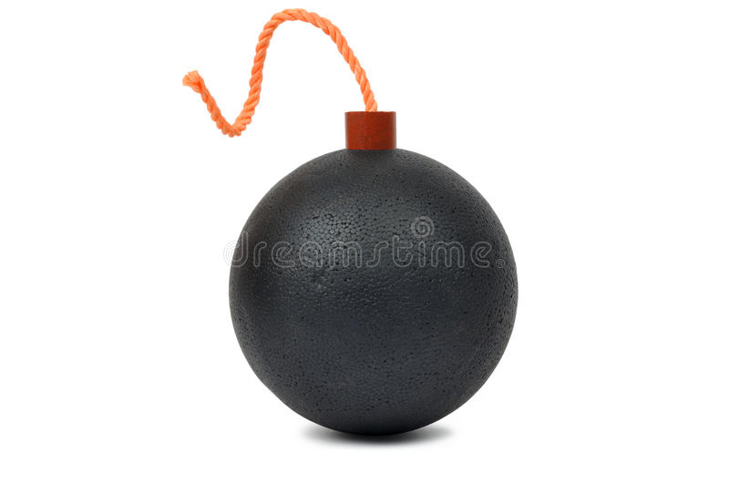 взрыватель бомбы круглый стоковое фото