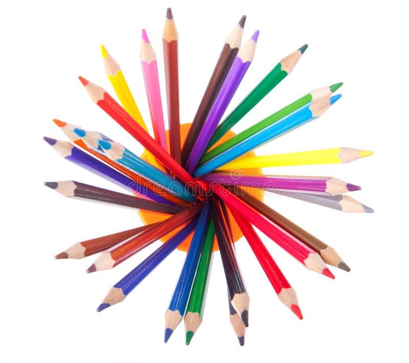 взрывая карандаши ii стоковые изображения