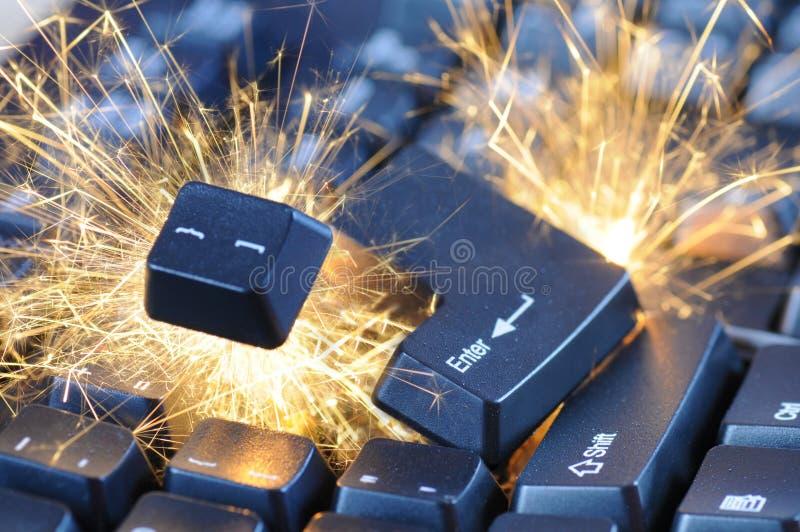 взрывая клавиатура стоковое изображение rf