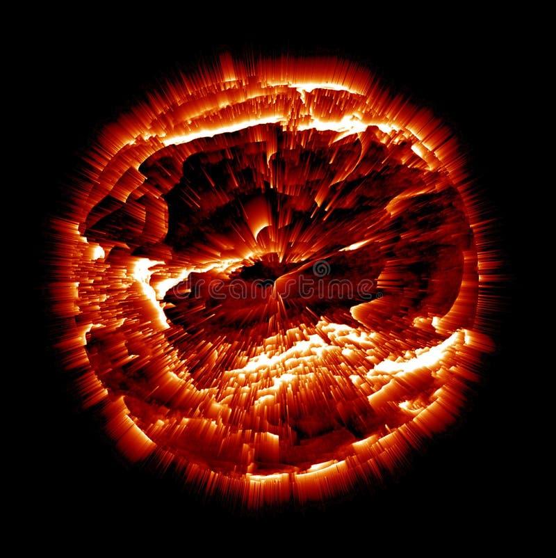 взрывая планета бесплатная иллюстрация