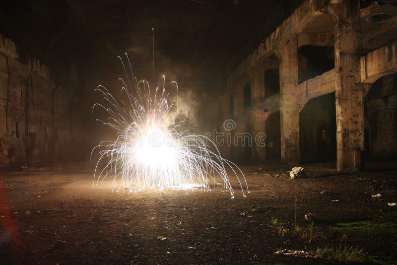 Взрыв в старой зале - долгая выдержка стоковые фотографии rf