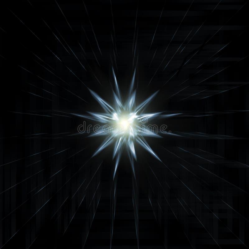 Взрыв, звезда или Sunburst фейерверка в ярких световых лучах бесплатная иллюстрация