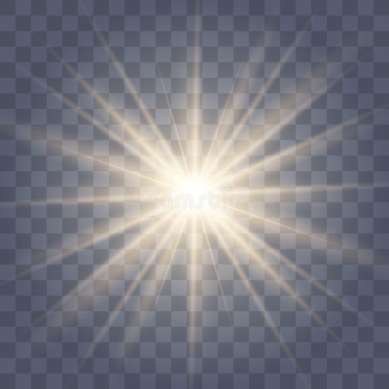 Взрыв золота накаляя светлый разрыванный стоковые изображения rf