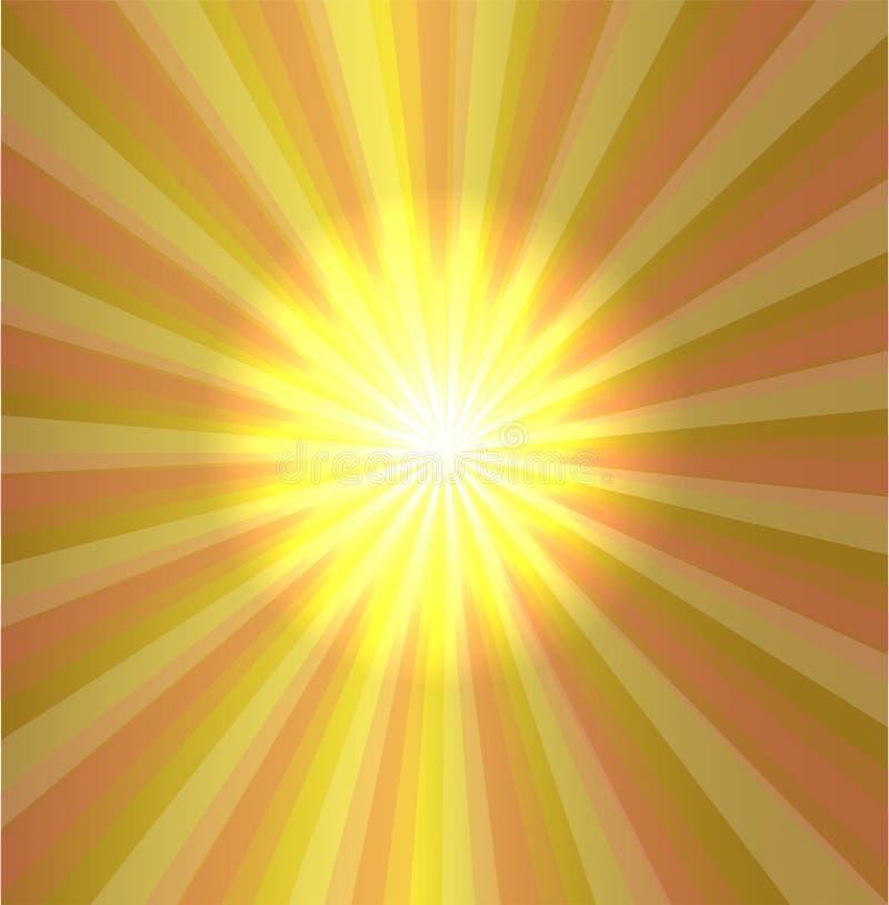 Взрыв играет главные роли светлый спускать на желтую предпосылку бесплатная иллюстрация