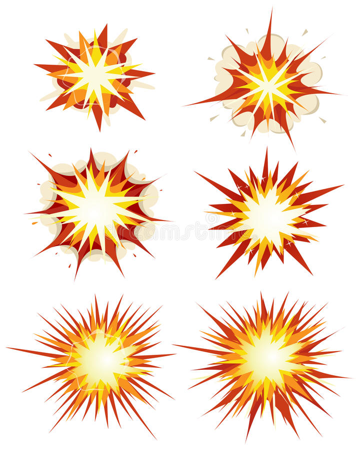 Взрыв комика, бомбы и комплект взрыва иллюстрация вектора