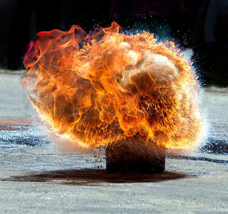 Взрыв крупного пожара стоковая фотография