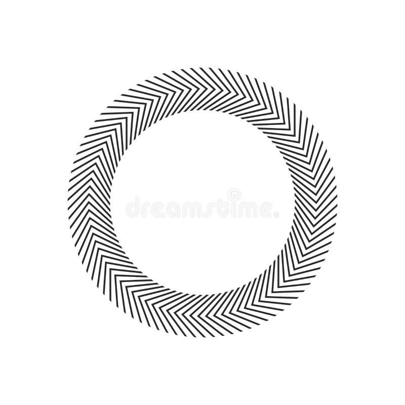 Взрыв, лучи, круги геометрического дизайна лучей Иллюстрация вектора изолированная на белой предпосылке бесплатная иллюстрация