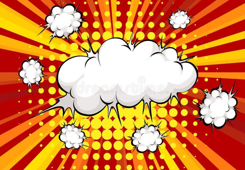 Взрыв облака иллюстрация штока