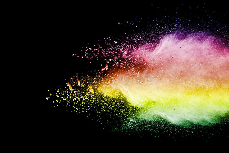 Взрыв порошка цвета стоковое фото
