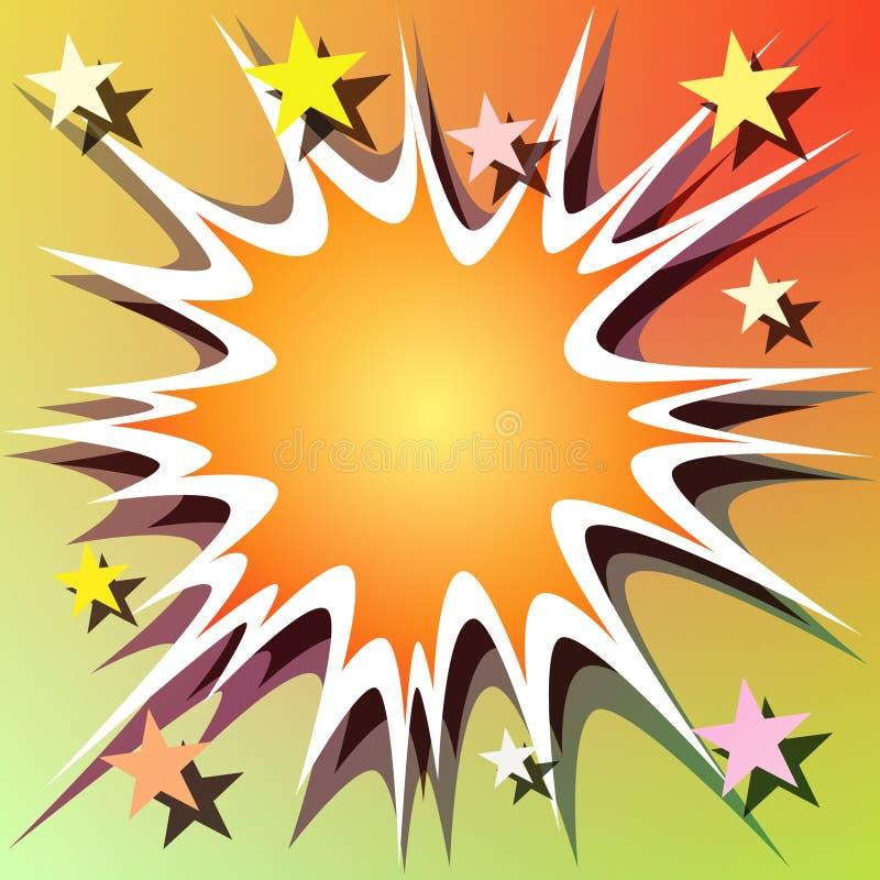 взрыв предпосылки иллюстрация вектора