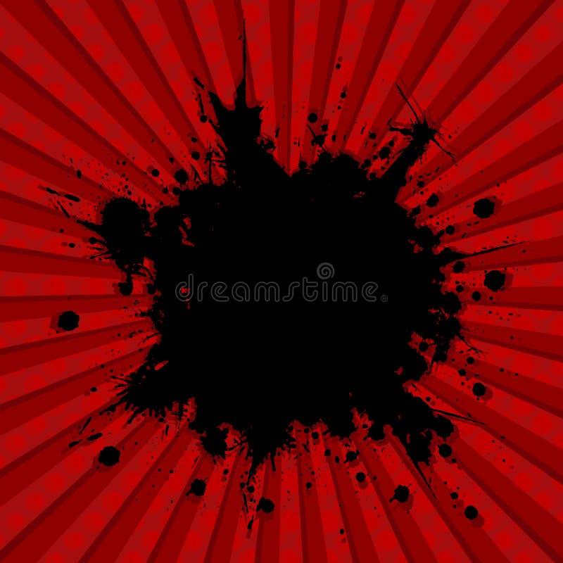 взрыв предпосылки иллюстрация штока